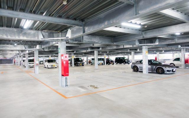 駐車場でのインロック